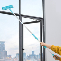ORZ Window Cleaning Brush Glass Window Cleaner Household Cleaning Tools Glass Wiper Extendable Groove Brush for Washing Cars