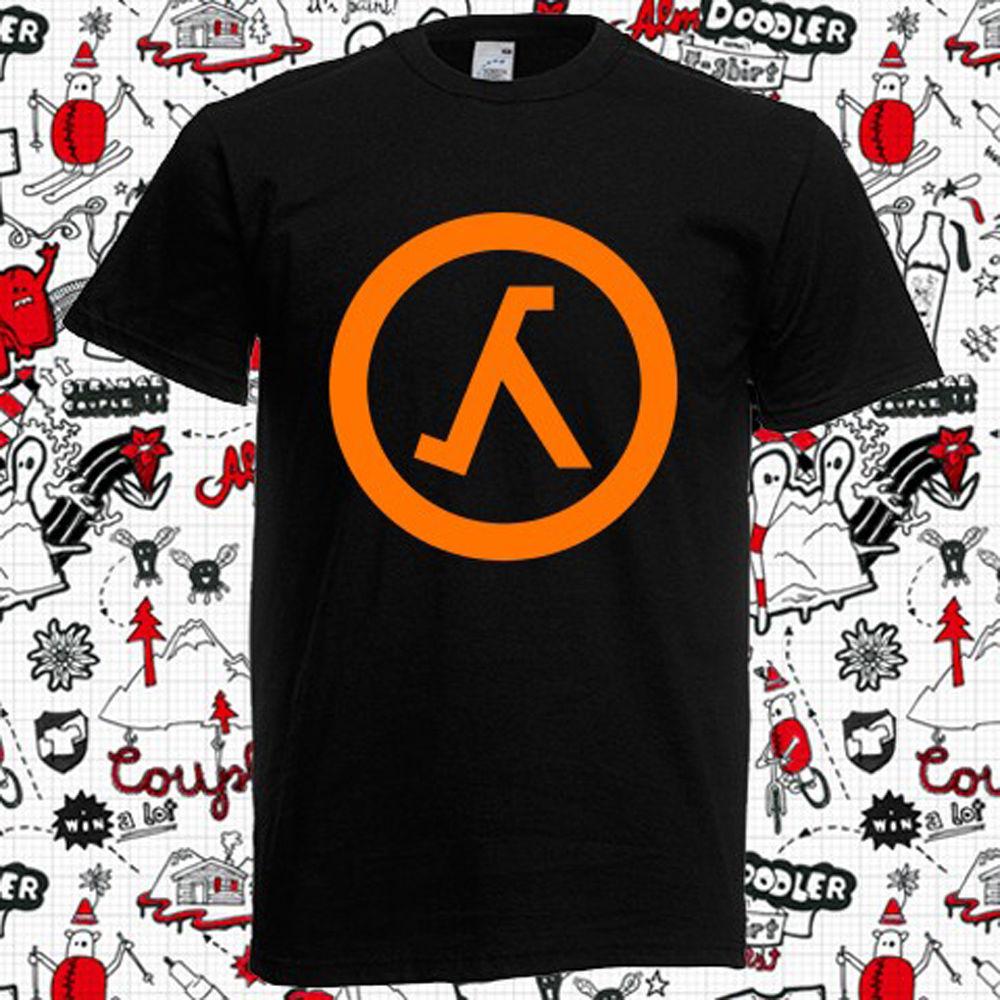New Counter Strike Half Life Logo Video Games Mens Black T-Shirt Size S-3XL