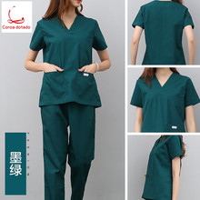 Hand-washing clothes split suit short sleeve maternity wear nurse long surgery pure cotton brush hand