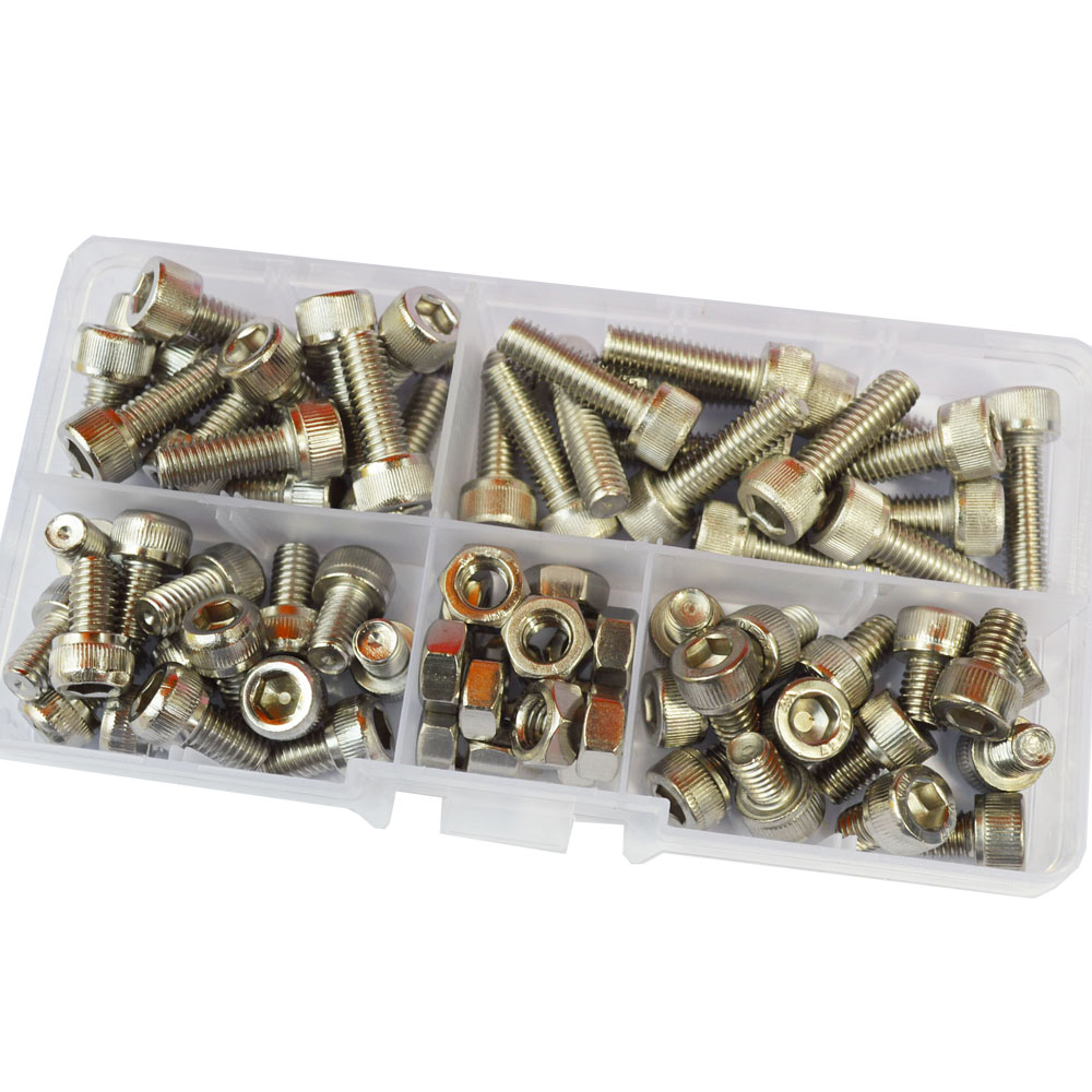Hex Socket Head Cap Screw Nut Thread Metric Machine Hexagon Allen Bolt Assortment Kit Set 304 Stainless Steel M6Hex Socket Head Cap Screw Nut Thread Metric Machine Hexagon Allen Bolt Assortment Kit Set 304 Stainless Steel M6