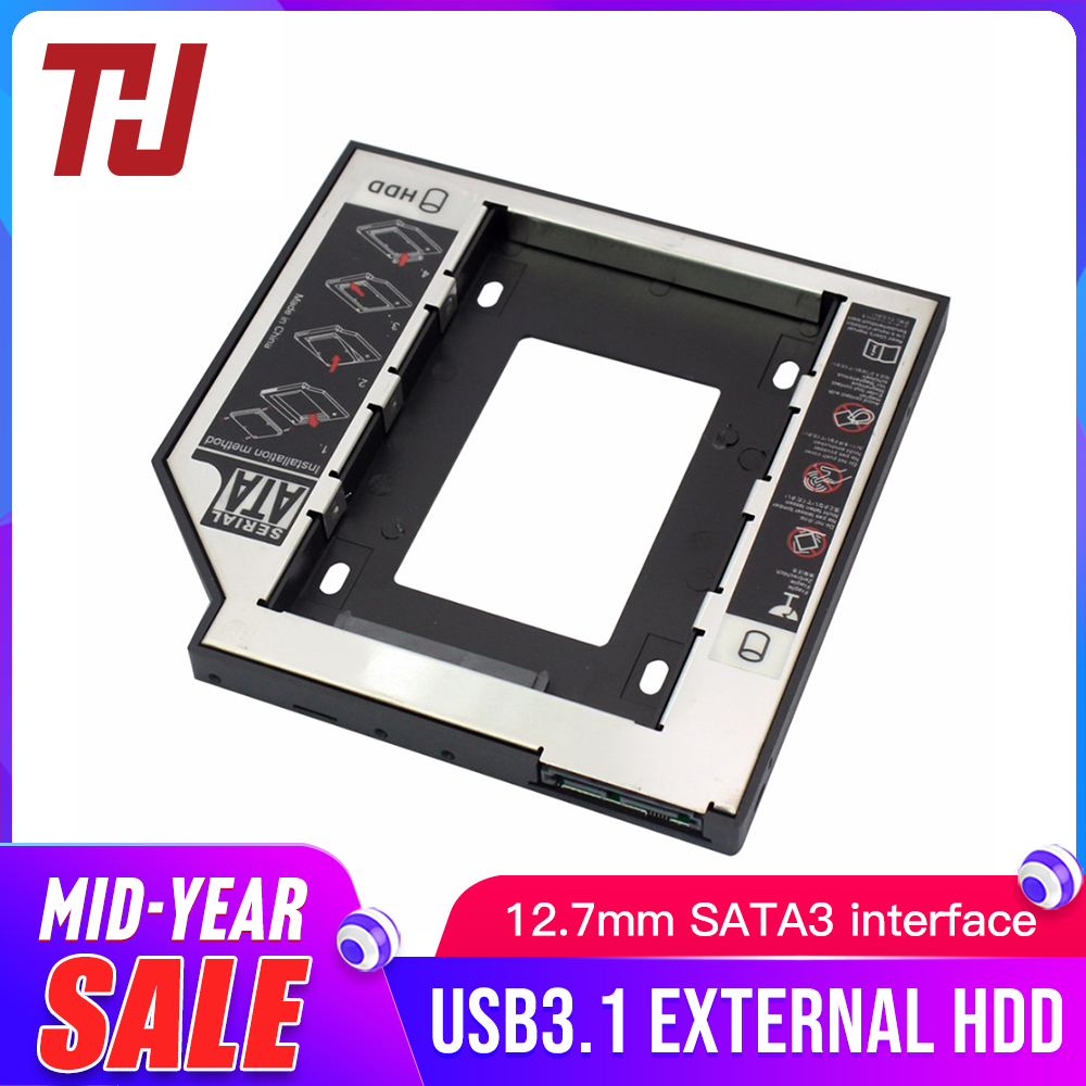 12 7mm SATA3 Interface 2 5 Inch Hard Drive Bracket SSD Adapter Optibay HDD Caddy DVD