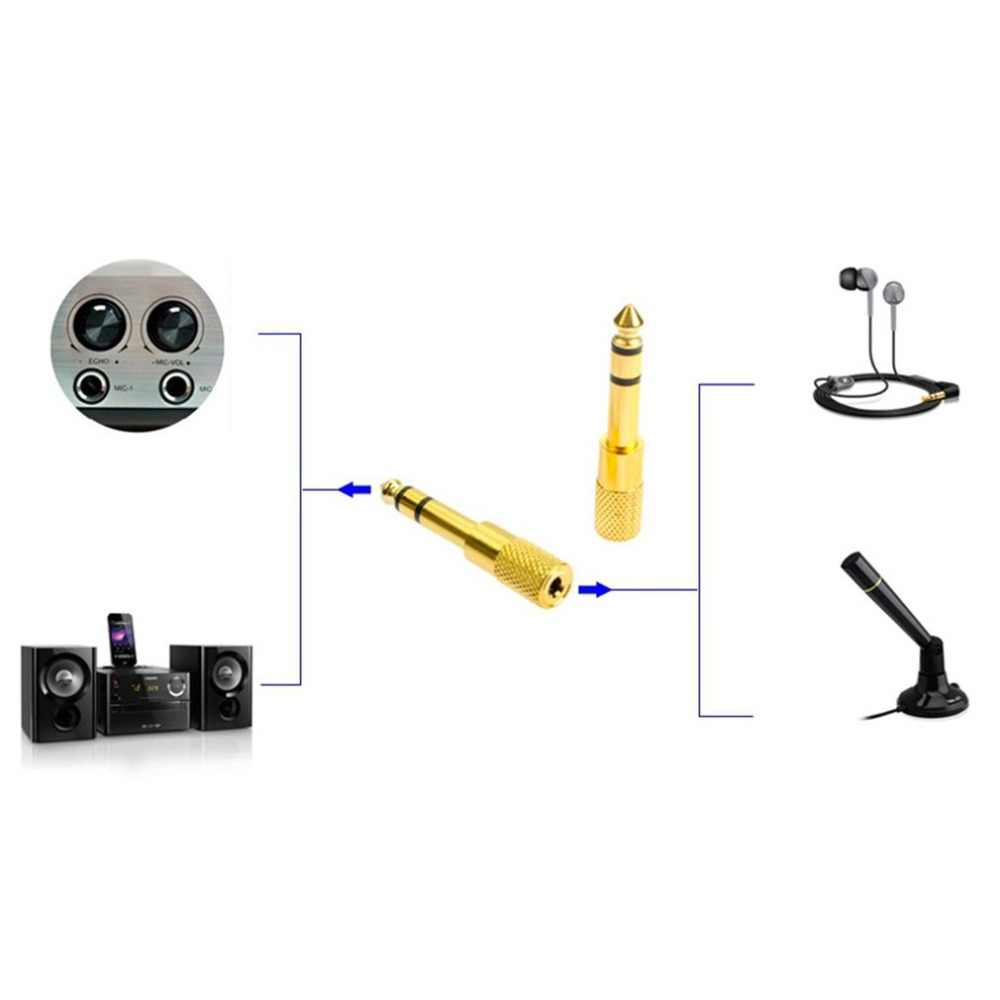 3.5mm To 6.35mm Jack Plug Female To Male Audio Converter Stereo Audio Headphone Jack Adapter Converter Connector