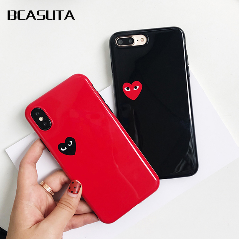 0404ed20f26 Cover For iphone 7 8 6 6 s Plus X des Coque Japan CDG Comme Loving eyes  Clear Silicone
