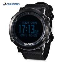 Sunroad relógio das mulheres dos homens de esportes ao ar livre relógios esportivos digitais el backlight tempo cronômetro relógio de pulso bússola