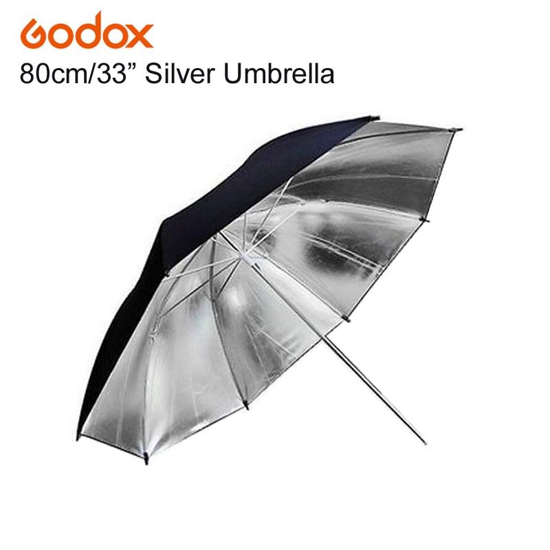 "Godox 33"" Inch 83cm Pro Photography Studio Reflector Black Silver Umbrella For Photo Video Flash Studio Lamp Lighting"