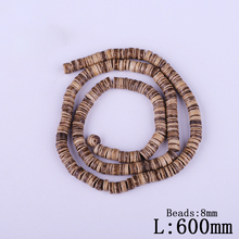 8mm Light Coffee Coconut Shell Hole Beads Fashion Natural Dark Brown Wheel Bead Beaded For Kids DIY Jewelry Making Decoration