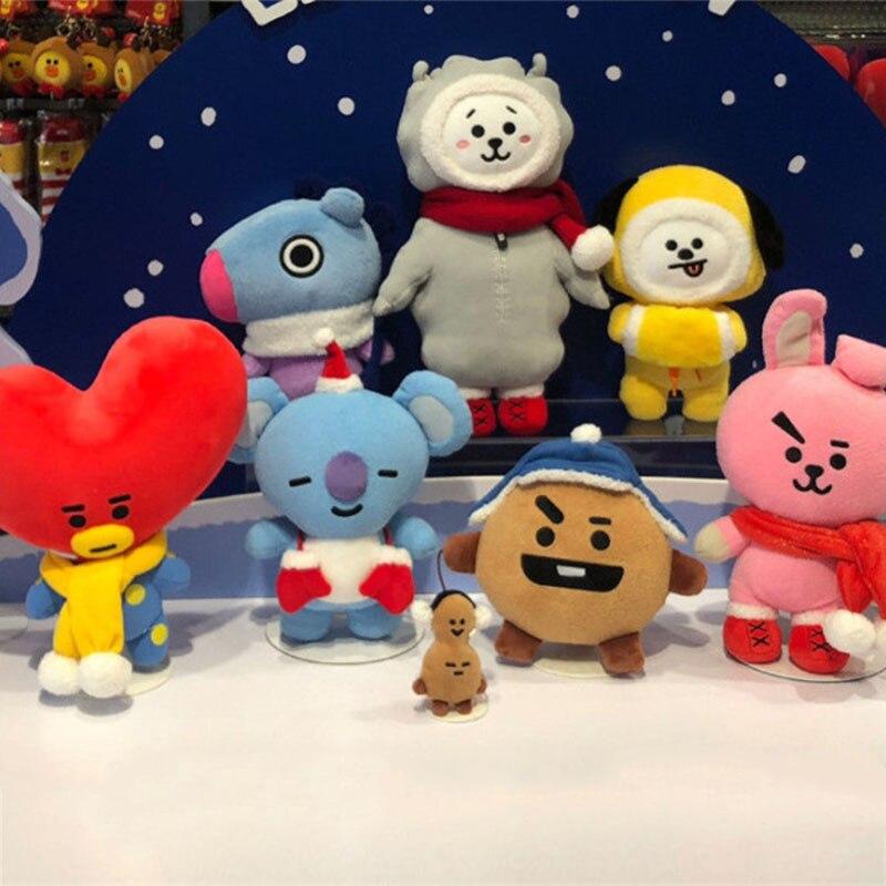 XINTOCH BTS juguetes CHIMMY COOKY TATA de peluche de Navidad de peluche de Kpop muñeca suave nuevo regalo para los niños de la gota envío