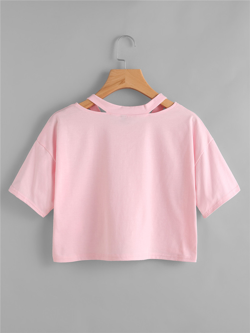 HTB1e5.eRXXXXXX.apXXq6xXFXXXc - 2017 Fashion Summer Kawaii Embroidery T Shirts Women Short Sleeve Tops Tees Casual Female Pink T-shirt