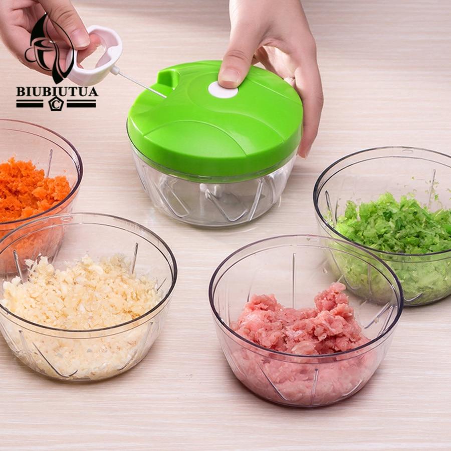 biubiutua nicer dicer plus high speedy chopper design chopper garlic cutter vegetable fruit twist shredder manual meat grinder - Vegetable Dicer