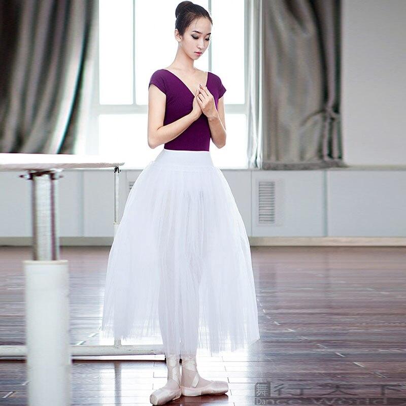 b51ae7e4f6 SONGYUEXIA Woman ballet long skirt Adult white ballet tutu skirt Artistic  Gymnastics Dress Skirt Long professional ballet155 175-in Ballet from  Novelty ...