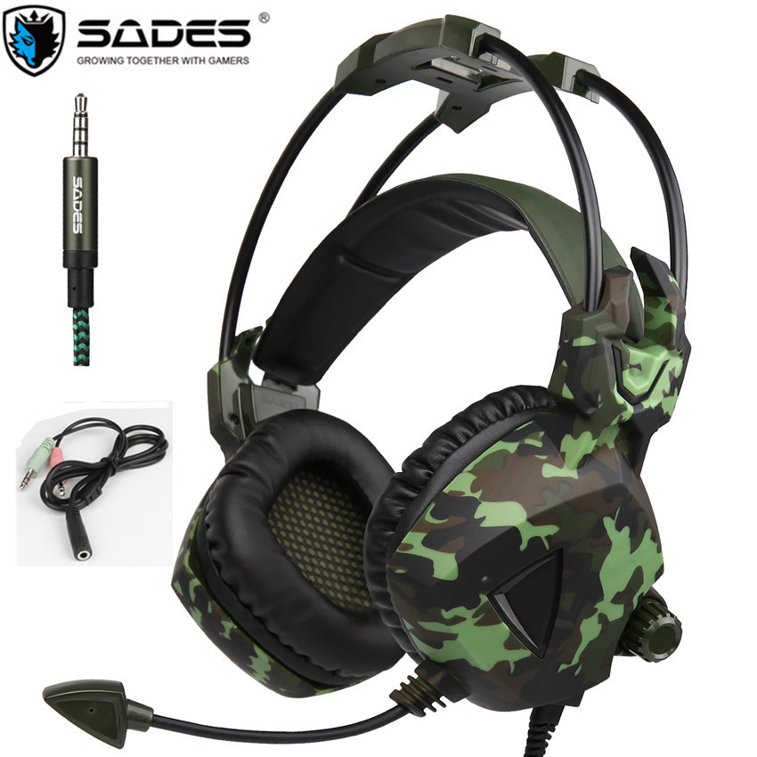 SADES SA931 Gaming Headset Stereo Bass Over-Ear Game Headphones with Microphones for PS4 New Xbox  PC  Mobile Phones Laptop