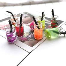 DIY Pendant Material Kawaii Summer Earrings New Simulation Fruit Juice Glass Creative Earrings Necklace Small Pendant Keychain(China)