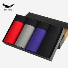 4pcs/lot New Pattern Classic Men's Boxer Underwear Shorts Cotton Boxers Sexy Underpants Men Brand homme pull in Male Panties
