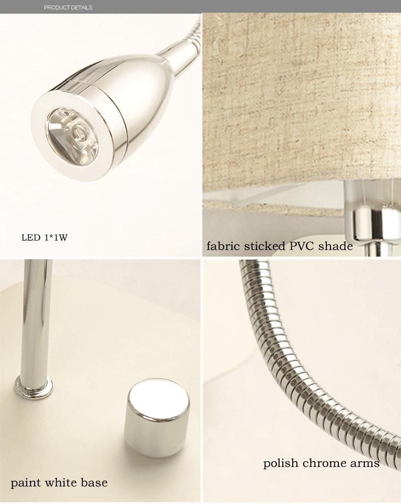Zidna svjetiljka za spavaću sobu s prekidačem LED Zidno svjetlo u - Unutarnja rasvjeta - Foto 6