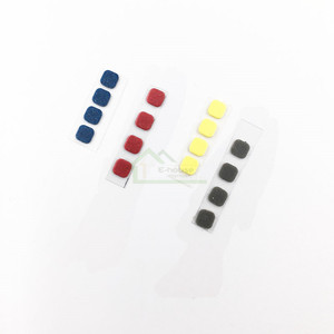 Image 3 - 8pcs/ Set for New 3DS XL Console Front Back Screw Rubber Feet Cover Upper LCD Screen Screws Cover Rubber replacement