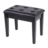 Comfortable PU Leather Surface Chair Wood Stools Stool Bench Dressing Makeup Chair Music Piano Stool Padded Seat Home Furniture