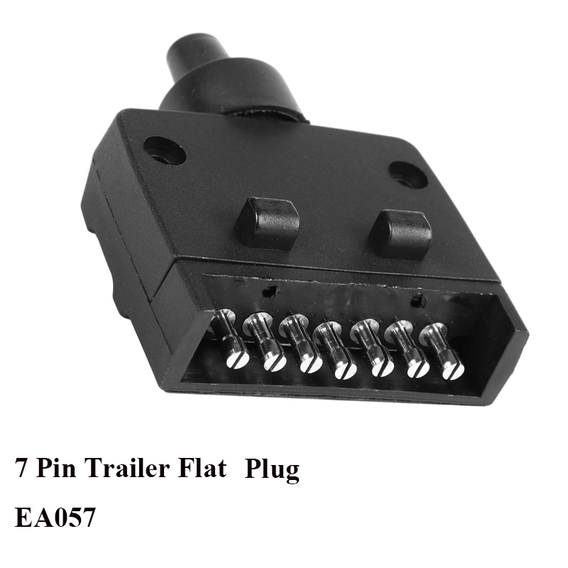 Image 3 - 12V Car Accessories 7 Pin Flat Trailer Socket  plug 7 way  core pole  truck  g adapter Towing Electrics Connector  Connector-in Cables, Adapters & Sockets from Automobiles & Motorcycles