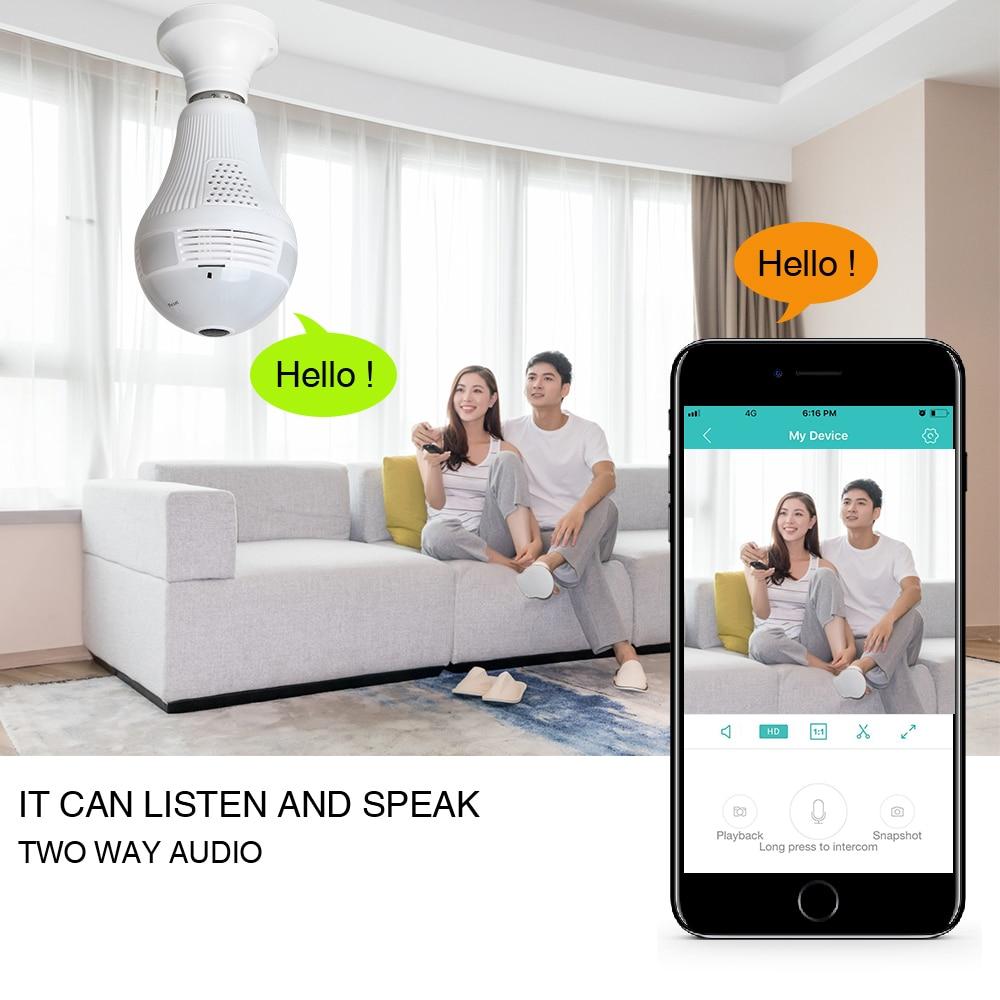 Loosafe 960P 360 Лампа бяспекі Wi-Fi камеры - Бяспека і абарона - Фота 6