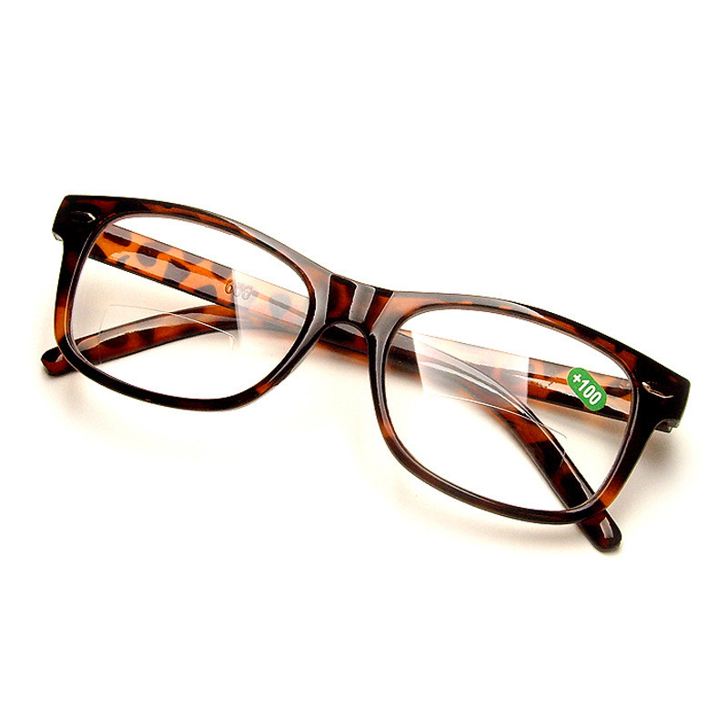 0cefa8bf035 Leopard Bifocals Lense Reading Glasses and Clear Lens For Far view and Near Reading  Resin Lens