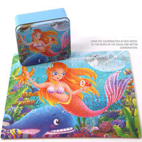 Puzzle 100 Pieces Factory Direct Tin Wood Wooden Children S Educational Cartoon Jigsaw Puzzle