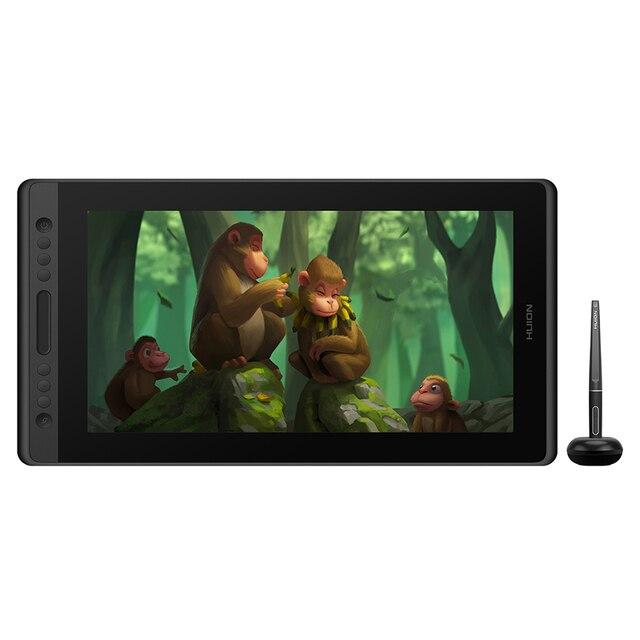 Huion Kamvas Pro 16 15.6 cal cyfrowy bateria tableta bezpłatny Pen wyświetlacz pióro Tablet monitora Monitor do rysowania z Tilt Func szkło szklane AG