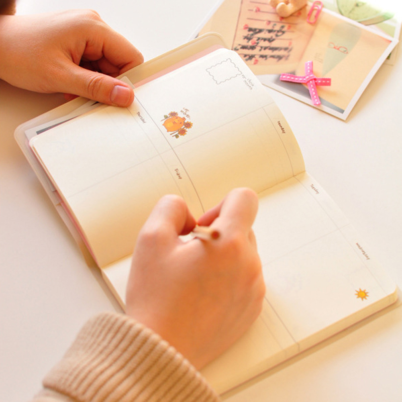 Cute Kawaii Notebook Cartoon Rabbit Journal Diary Planner Notepad for Kids Gift Korean Stationery Three Covers cute kawaii cartoon rabbit journal notebook diary planner notepad for kids gift korean stationery wj0014