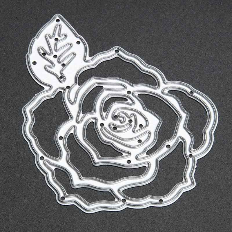 Rose Flower Metal Cutting Dies Stencils for DIY Scrapbooking Photo Album Decorative Making Decorative Dies Cuting