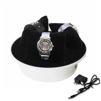 Wholesale Free Shipping Moving Rotary Jewelry Display Turntable Stand Holder Powered By Battery And AC Adapter