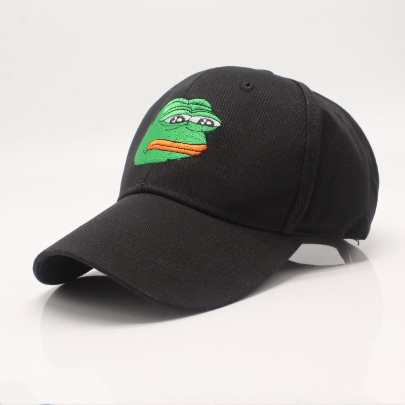 Sad Kermit   Cap   Frog Pepe Feels Bad Man Embroidery Sun-shade Snapback Hip Hop   Baseball     Cap   The Sad Meme Frog Hat