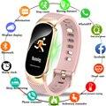 Смарт-браслет, часы для женщин и мужчин, фитнес-монитор сердечного ритма, спортивный трекер для бега, водонепроницаемые Смарт-часы на неболь...