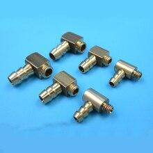 4PC Gasoline M4 M5 M6 Copper Water Nozzle 90 Degree L Type Oil Fuel Water Nipple