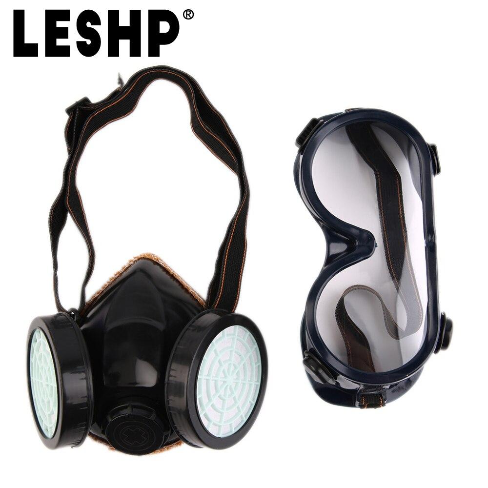 Aprensivo Nueva Media Cara Máscara De Gas Con Anti-niebla Gafas N95 Polvo Químico Filtro Máscara De Respiración Respiradores Para La Pintura De Spray De Soldadura