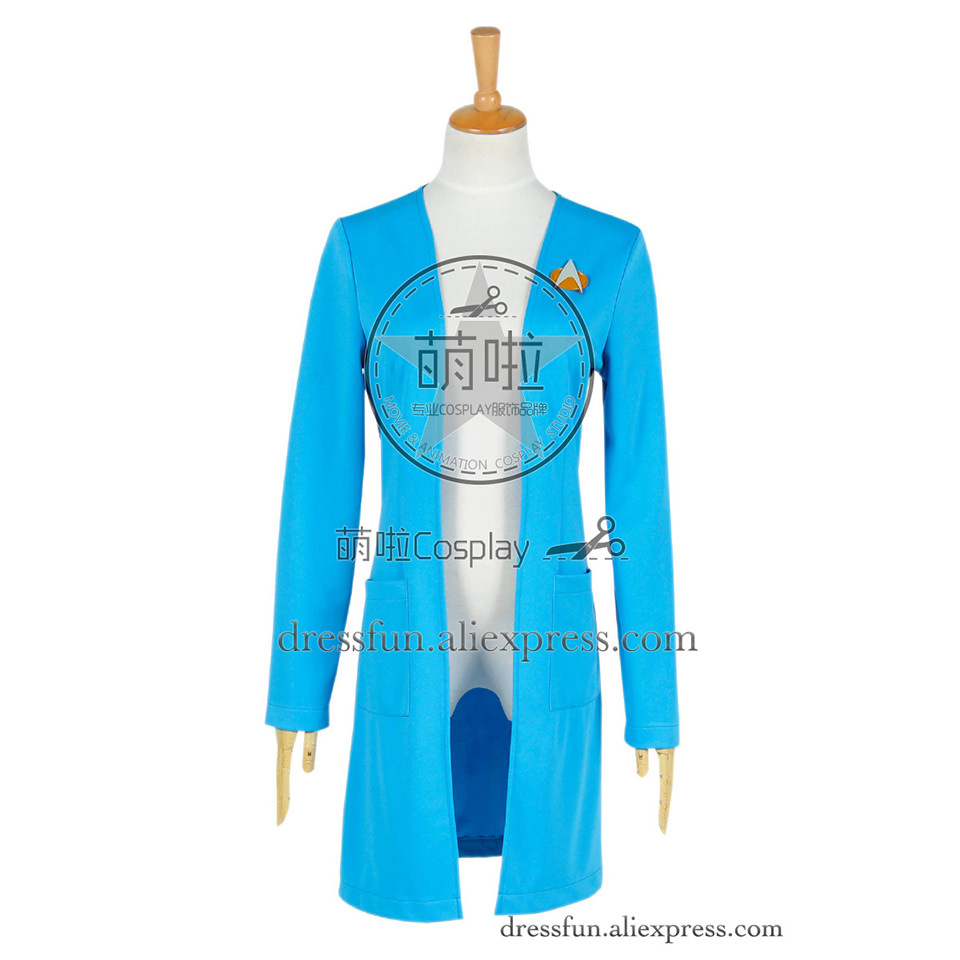 Star Trek The Next Generation Cosplay Beverly Crusher Costume New Coat Outfits Suit Halloween Fashion Party Fast Shipping
