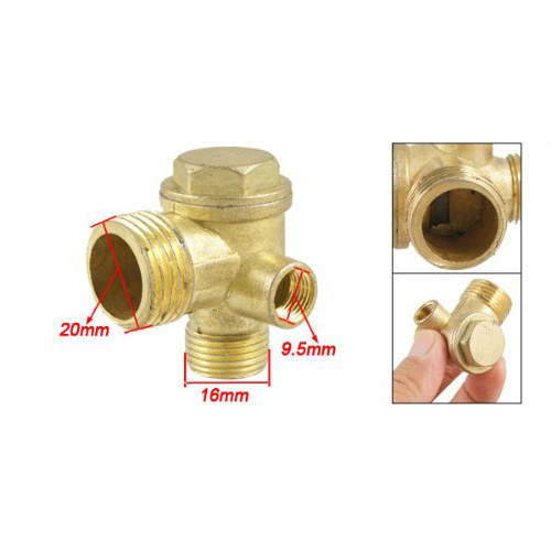 2015 Hot New Gold Tone 3/8 Female Thread Tube Connector Air Compressor Check Valve 3 8 check valve with solder connection for bus air conditioner and refrigeration truck replace sporlan check valve