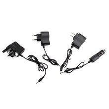 Зарядное устройство переменного тока, адаптер с портом на 18650, аккумулятор, фонарик, налобный фонарь, питание, Конвертеры, провод, EU, US, UK, автомобильная вилка