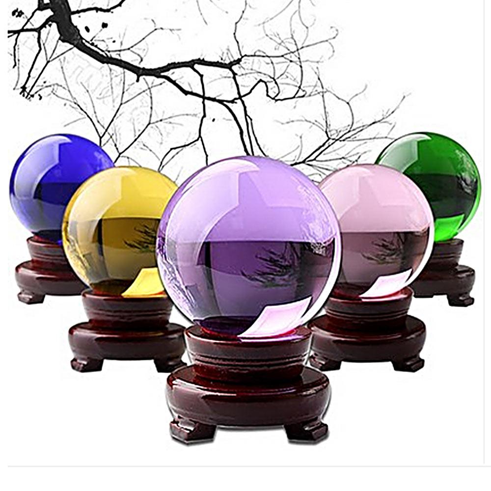 40mm 4 Colors Crystal Glass Ball Crystal Ball Crafts Desktop Home Decoration Crystal Ball Artificial Quartz Transparent