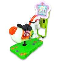 New 3D small video Jockey Club horse racing coin operated wobbler children's playground swing playground equipment YLW K1816