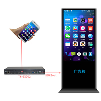 TK TN702 Mobile phone interface display to vertical screen for Android and Iphone, mobile phone synchro to vertical unit