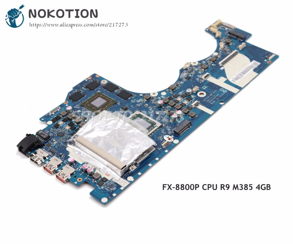 NOKOTION BY510 NM A521 MAIN BOARD For Lenovo Ideapad Y700 15ACZ Laptop Motherboard 15.6 inch FX 8800P CPU R9 M385 4GB