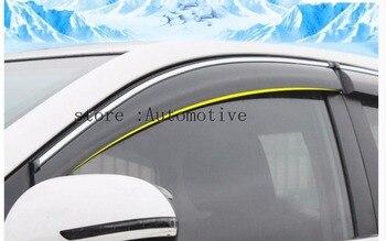 Car Door Window Rain Sun Guards Visor Weathershields Vent Trims For Mazda CX-5 cx5 2012 2013 2013 2014 2015
