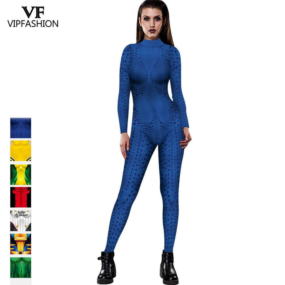 VIP FASHION Mystique Hero Anime Aquaman Wife Mera Cosplay Deadpool Sexy Costume Carnival Halloween Costumes  For Adult