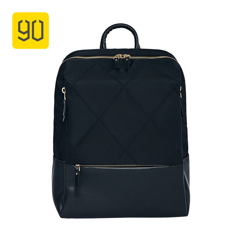 XIAOMI 90FUN Fashion Diamond Lattice Backpack 14 inch laptop Bags for Women Girls Ladies for School College Travel Trip 2