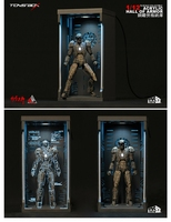 1/12 Scale Figure Accessory Comicave SHF Iron Man Dustproof Display Box Fit War Machine 1.0/War Machine 2.0 Figure