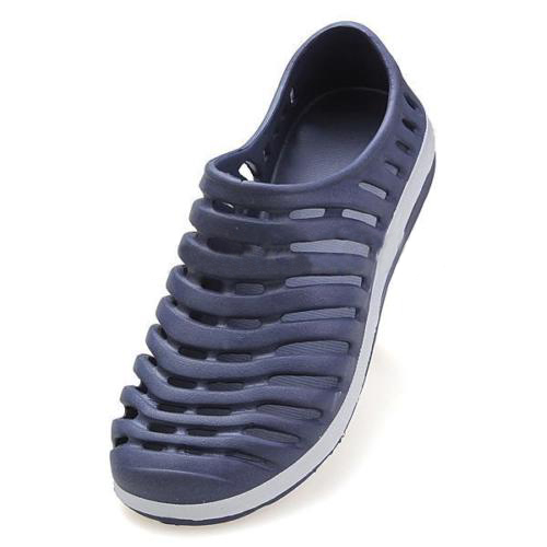 Men Summer Hollow  Sneakers Flat Loafer Beach Rubber Sandal Slipper Shoes Slippers