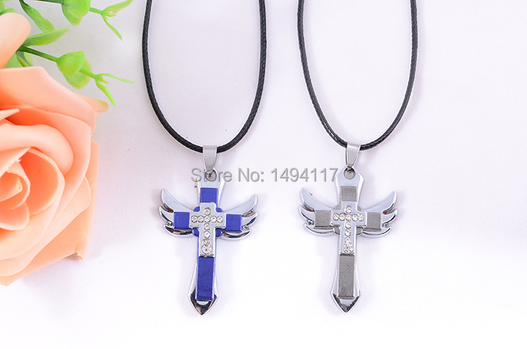 IBEST JEWELRY New imitation couple  jewelry -Metal cross  Necklace ,suitable for lovers ,one half for girl ,another half for boy
