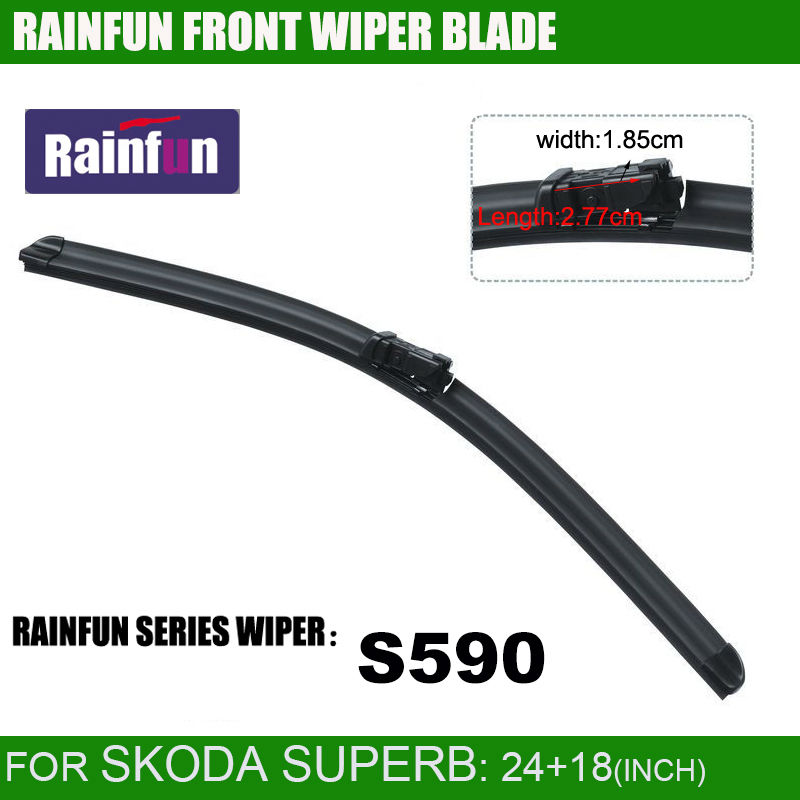 RAINFUN специальный автомобиль стеклоочистителя для SKODA SUPERB(08-), 24+ 18 дюймов с высококачественной резиновой заправкой, 2 шт. в партии