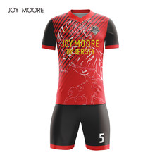 Profesional personalizado adultos camisetas de fútbol conjunto uniformes  ropa de fútbol Kit barato transpirable camiseta de fútb... € 19 d79ef95c52539