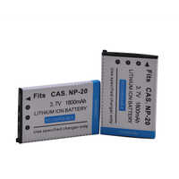 2pcs NP-20 NP20 NP20 Battery for CASIO Exilim EX-M1 M2 S1 S1PM S2 S3 S4 Z3 Z4 S100 Z8 Z40 Z65 z70 Z75 S20 s770 Battery