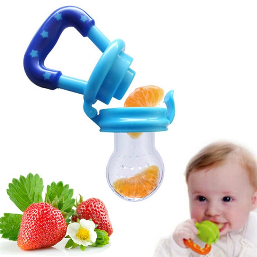 Portable Infant Food font b Baby b font Nipple Feeder Silicone Pacifier Fruits Feeding Supplies Soother