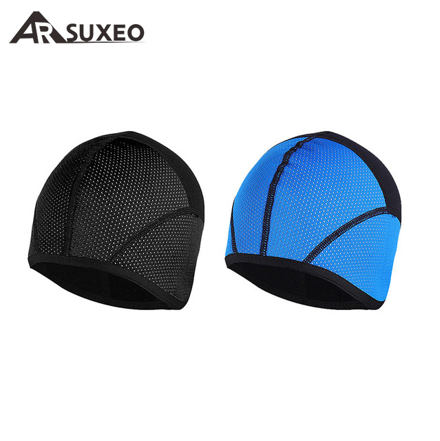 ARSUXEO Winter Warm Up Thermal Fleece Cycling Caps MTB Bike Bicycle Windproof Waterproof Hats Ciclismo Sports Running Caps